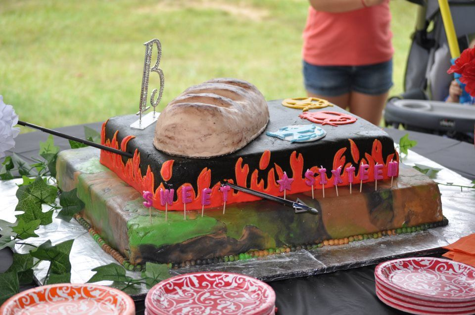 Close up of the cake with the bread made out of rice