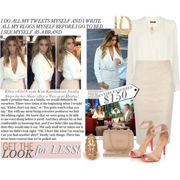 GET THE LOOK for LESS - $150: KIM KARDASHIAN on ELLEN, created by enjoyzworld on Polyvore