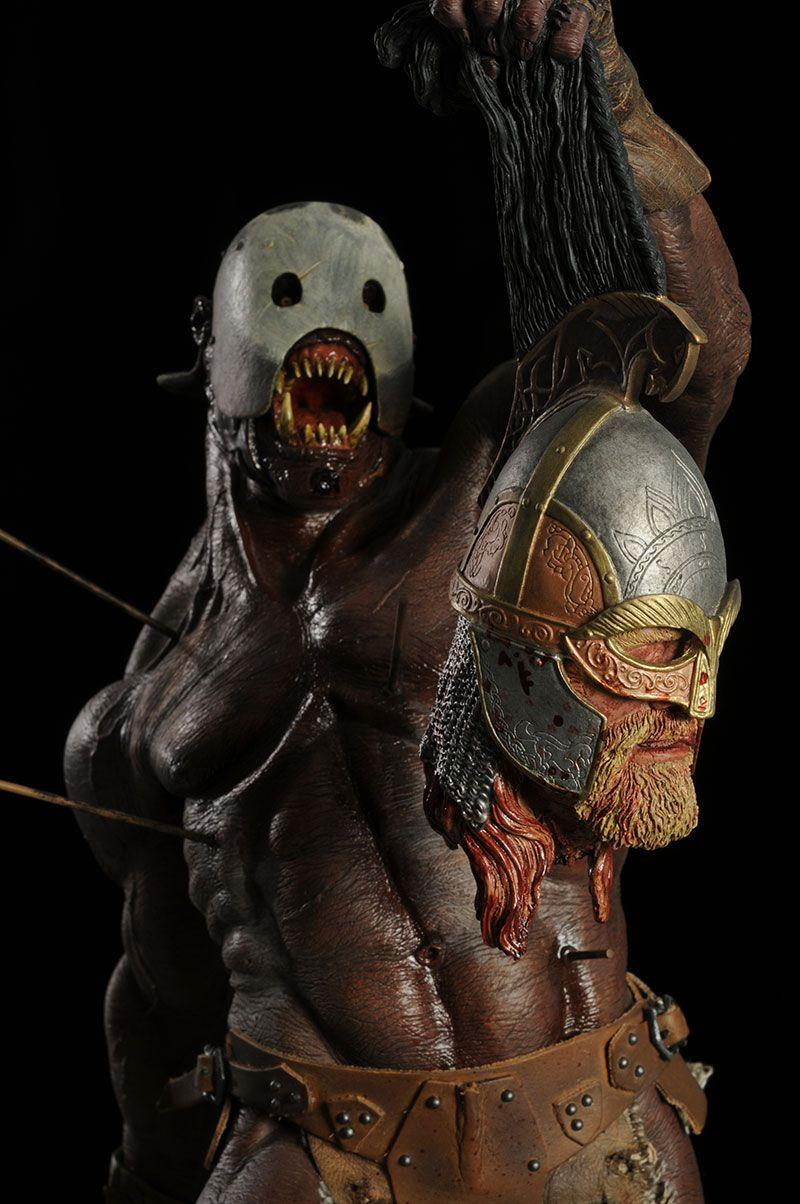 LOTR Berserker Uruk-Hai Premium Format Statue | Statue, Lord of the rings,  Lotr art