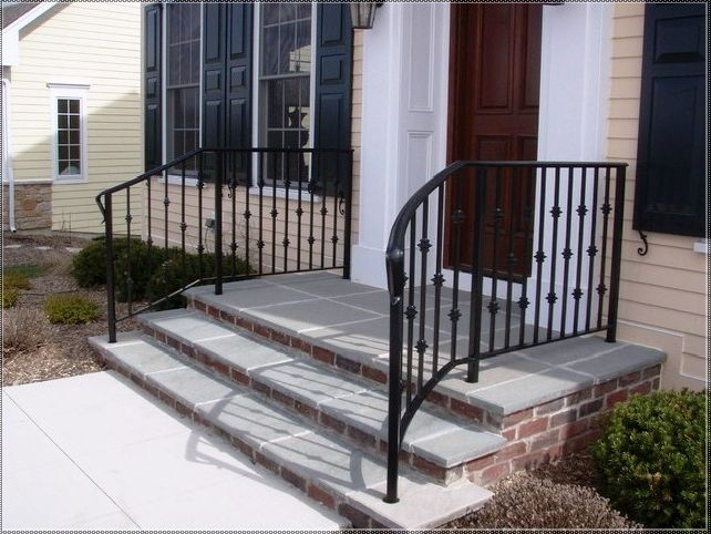 Exterior Wrought Iron Stair Railing Kits 2step Outdoor Handrail Tags Handrails Sta Wrought Iron Porch Railings Porch Railing Kits Wrought Iron Railing Exterior