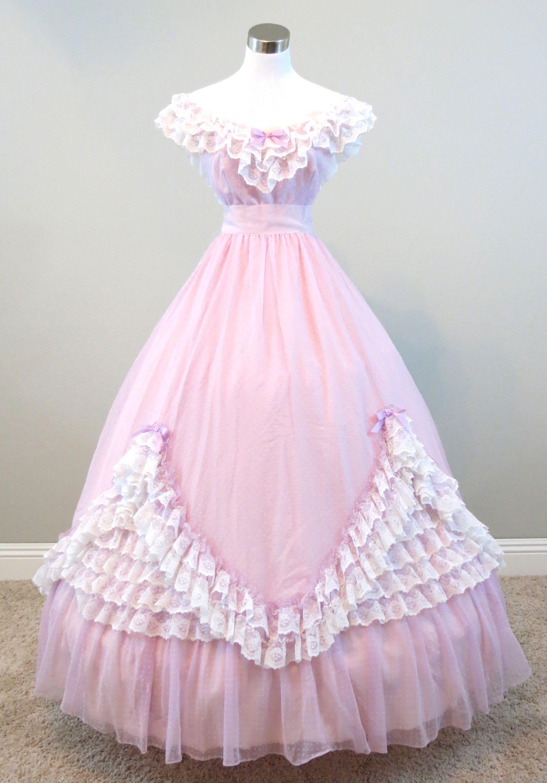 Lavender Chiffon Gown (waist - 26\