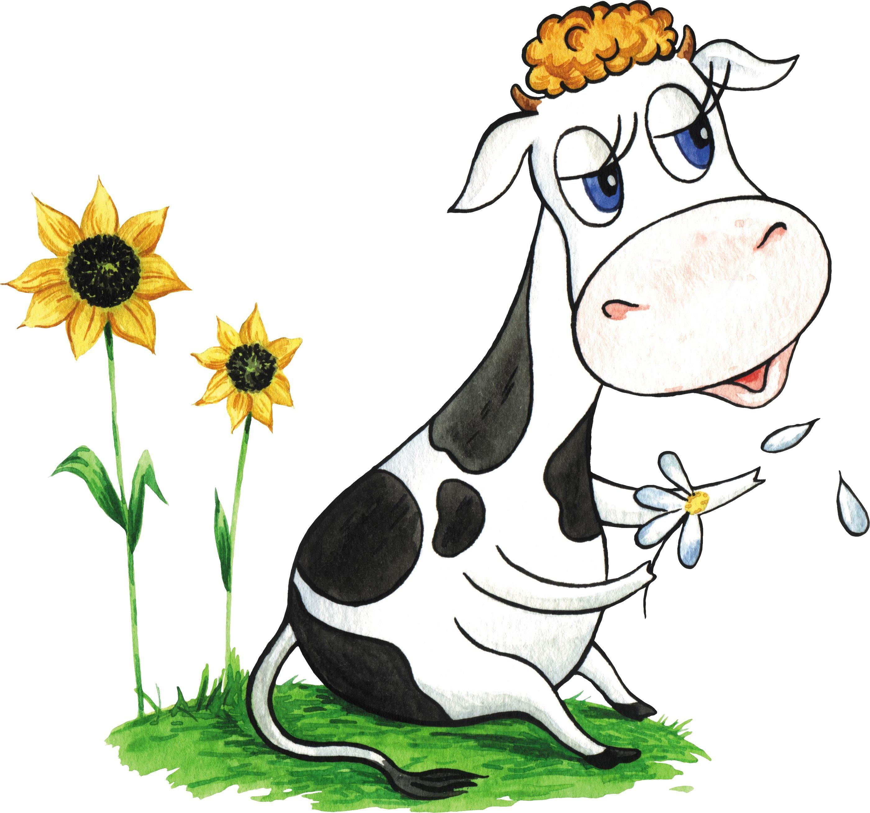 Корова смешная рисунок