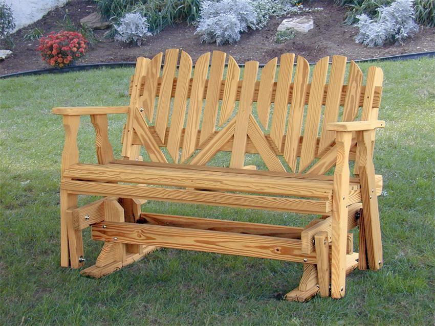 Amish Porch Glider Bench 6387 Porch Glider Wooden Porch Porch Glider Plans