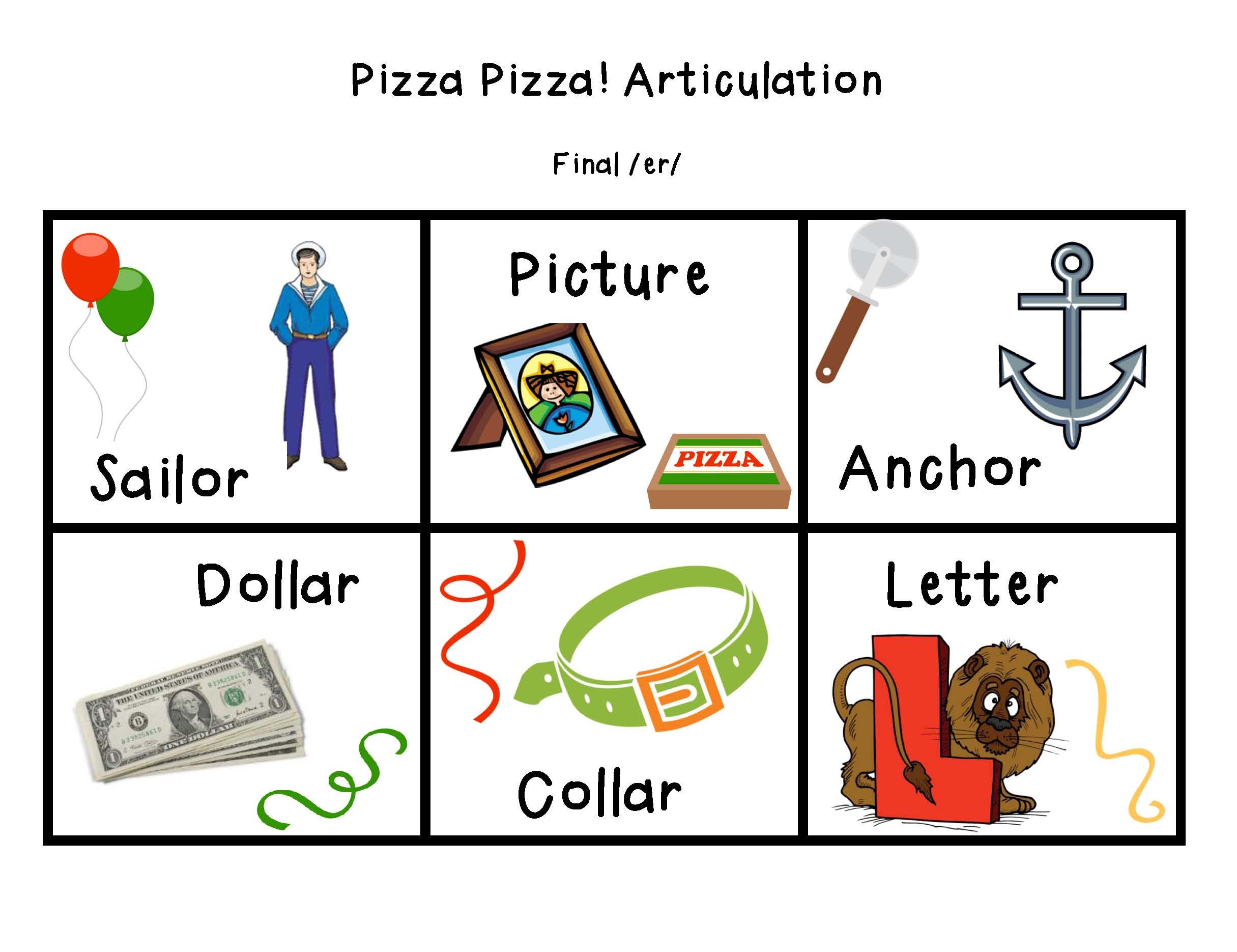 PizzaPizzaArticulationRPacketPage3 – R Articulation Worksheets