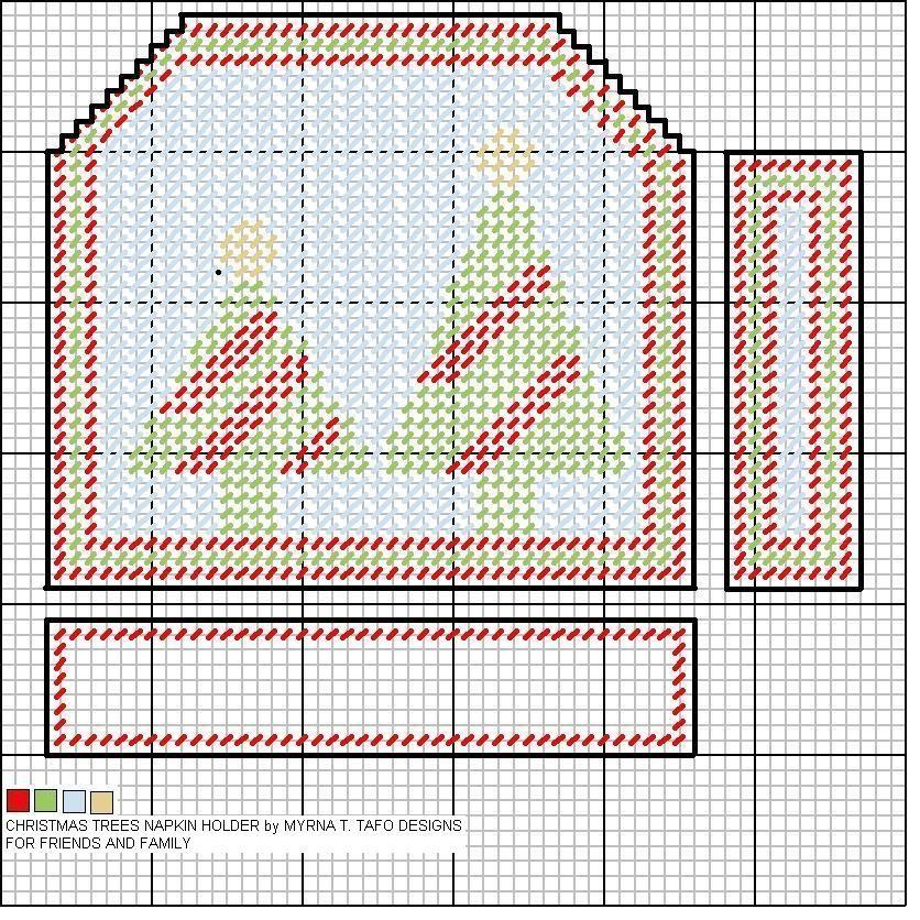Christmas Tree Napkin Pattern: Christmas Tree Napkin Holder