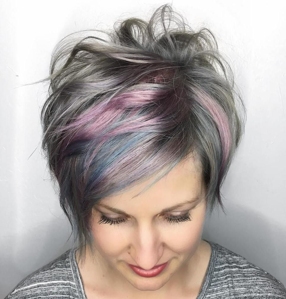 60 Gorgeous Long Pixie Hairstyles Pink Highlights Long Pixie And