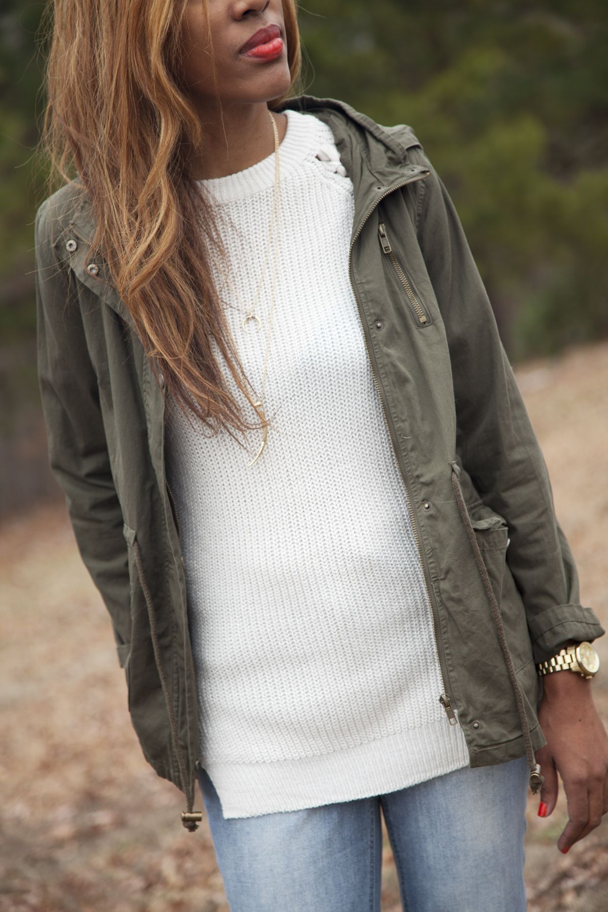 It's all in the layers Eliza Ash Boutique | Olive Green Jacket ...