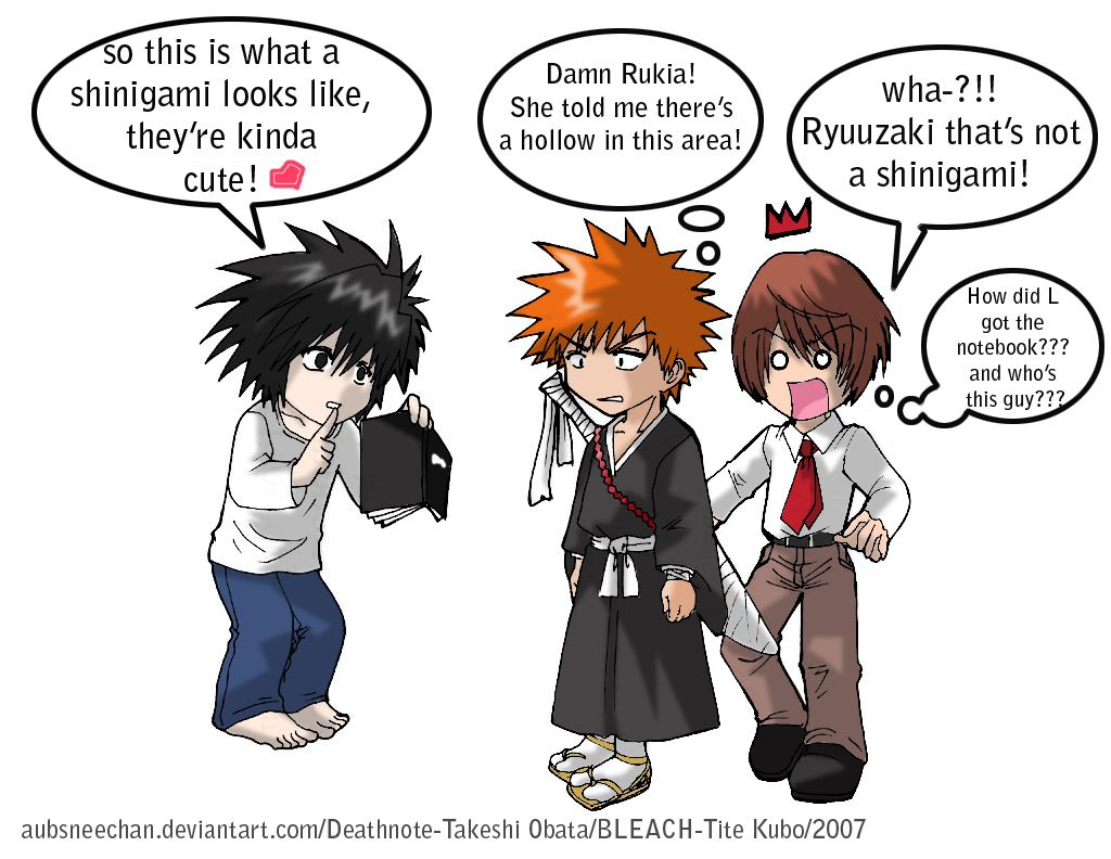 """""""So this is what a Shinigami looks like, they're kinda"""