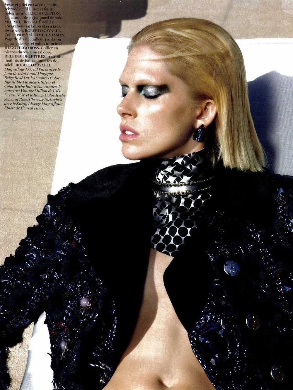 Iselin Steiro by Glen Luchford for Vogue Paris October