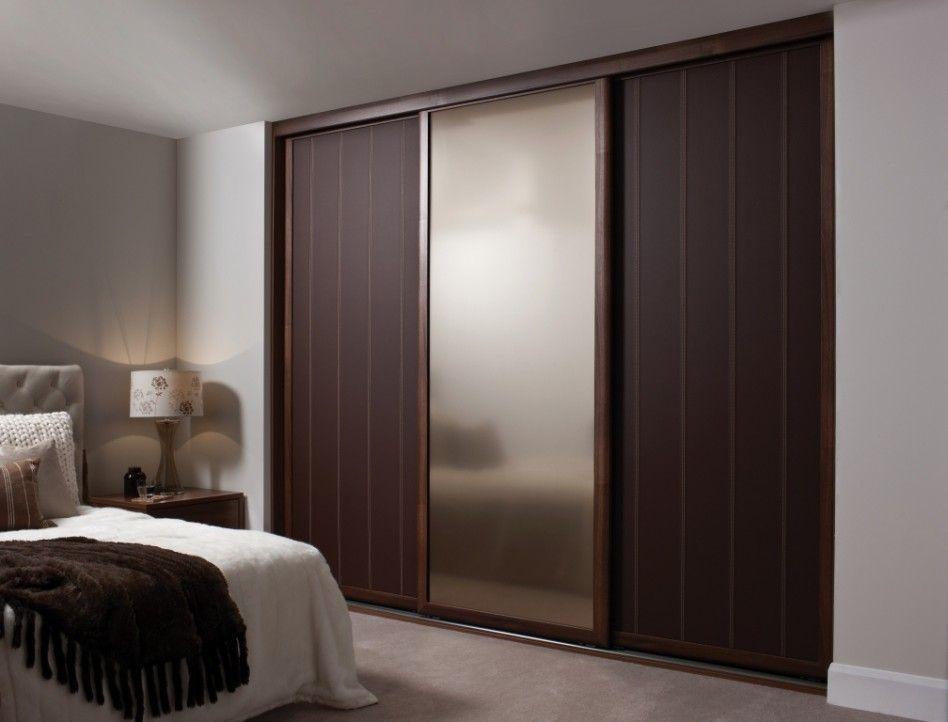 Bedroom Fancy Wooden Sliding Door Wardrobe Designs For