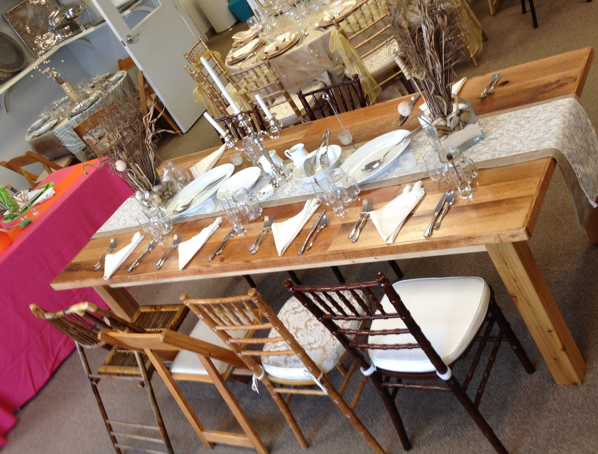 Table And Chair Rentals In Delaware Revolving Parts Online Harvest Tables Rustic Farm Wedding By Www Tentsevents Net