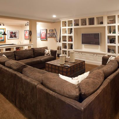 Large U Shaped Sectional Excellent Gathering Spot For The Bat