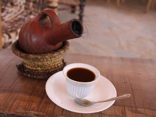"eritrean coffee known as ""jabbanh"" according to the pottery they"