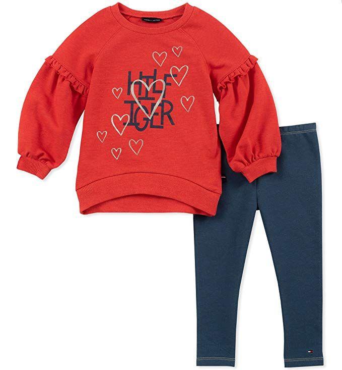 8b3a2601dc9 Tommy Hilfiger Baby Girls 2 Pieces Jacket Jog Set Clothing Sets