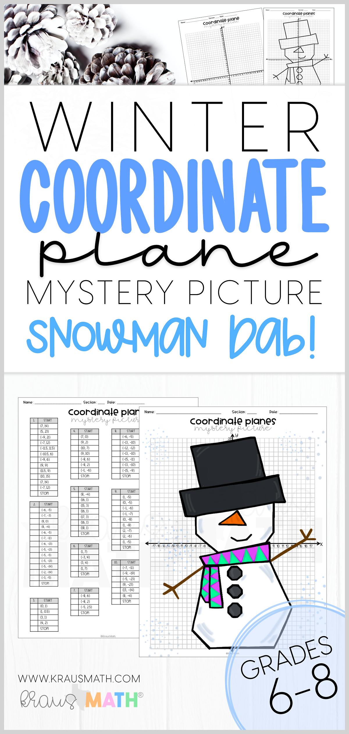 Winter Holiday Bundle 1 Coordinate Plane Activity Kraus Math Classroom Fun Fun Math Activities Fun Math Worksheets [ 2520 x 1200 Pixel ]