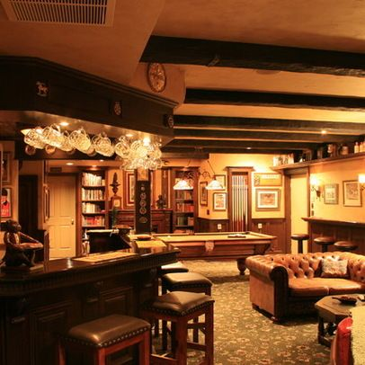 Pub Style Basement Bar, Pub Style Basement