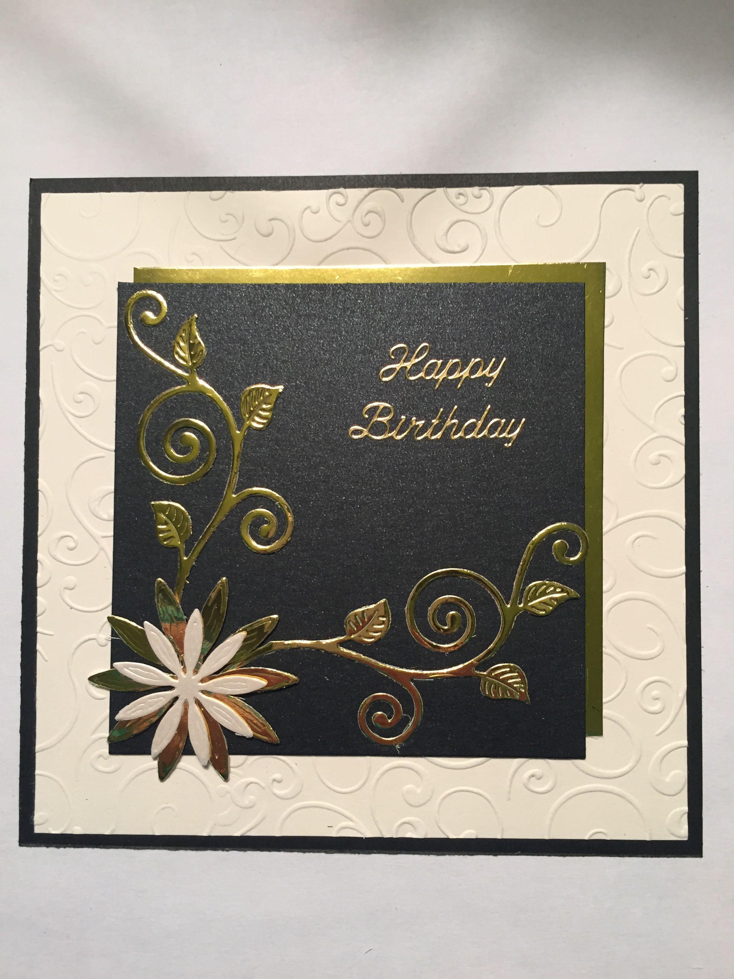 gold on black  cards handmade paper crafts cards card craft