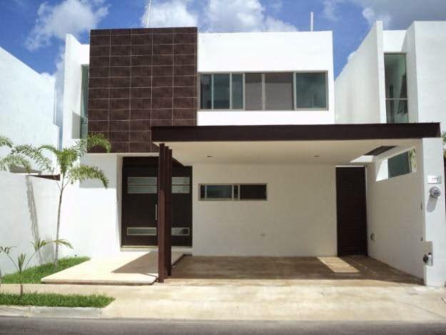 Fachadas de casas modernas fachada de casa en residencial - Fachada casas modernas ...
