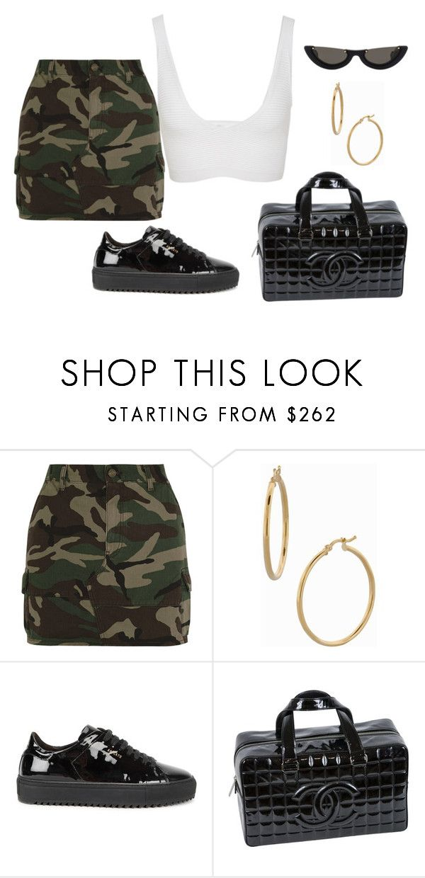 """Untitled #43"" by nelaantonella ❤ liked on Polyvore featuring Yves Saint Laurent, Bony Levy, Axel Arigato, Chanel and Cushnie Et Ochs"