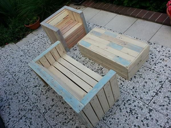 furniture made of pallets. Outdoor Furniture Made With Pallets | 99 Of
