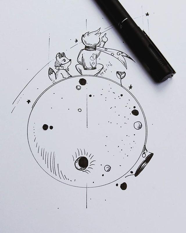 Kleine Prinzkunst für das KundenTattoo camilajustinomakeup entwickelt Kunst   Kleine Prinzkunst für das KundenTattoo camilajustinomakeup entwickelt Kunst regist...