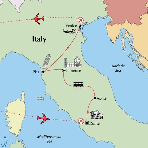 9 Day Rome Florence Venice All Inclusive Escorted Italy