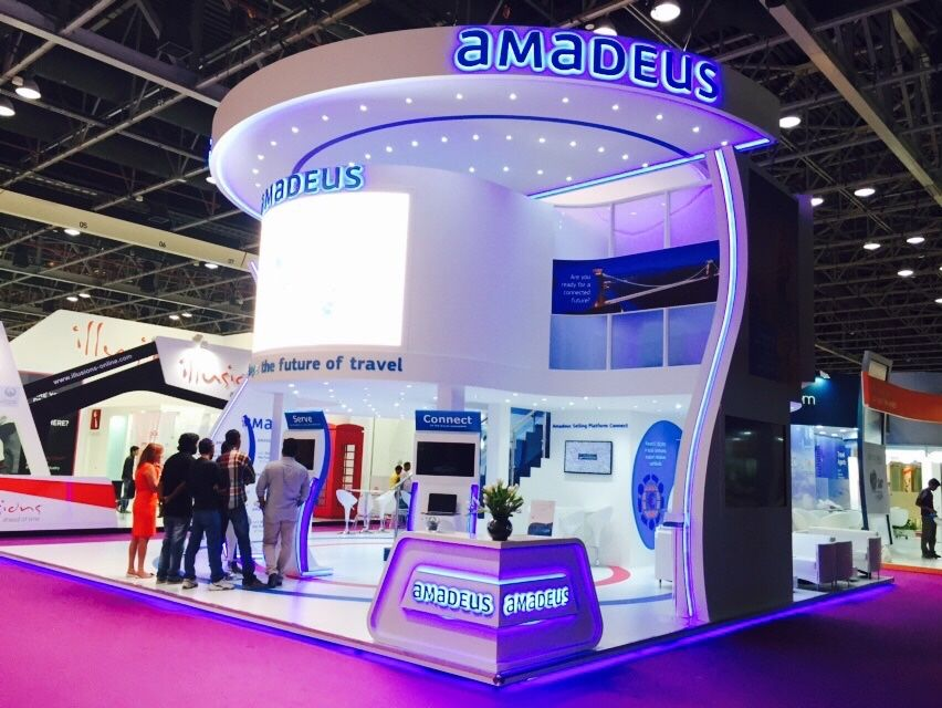 Exhibition Stand Design Double Deck : Amadeus it group nucleus exhibitions display