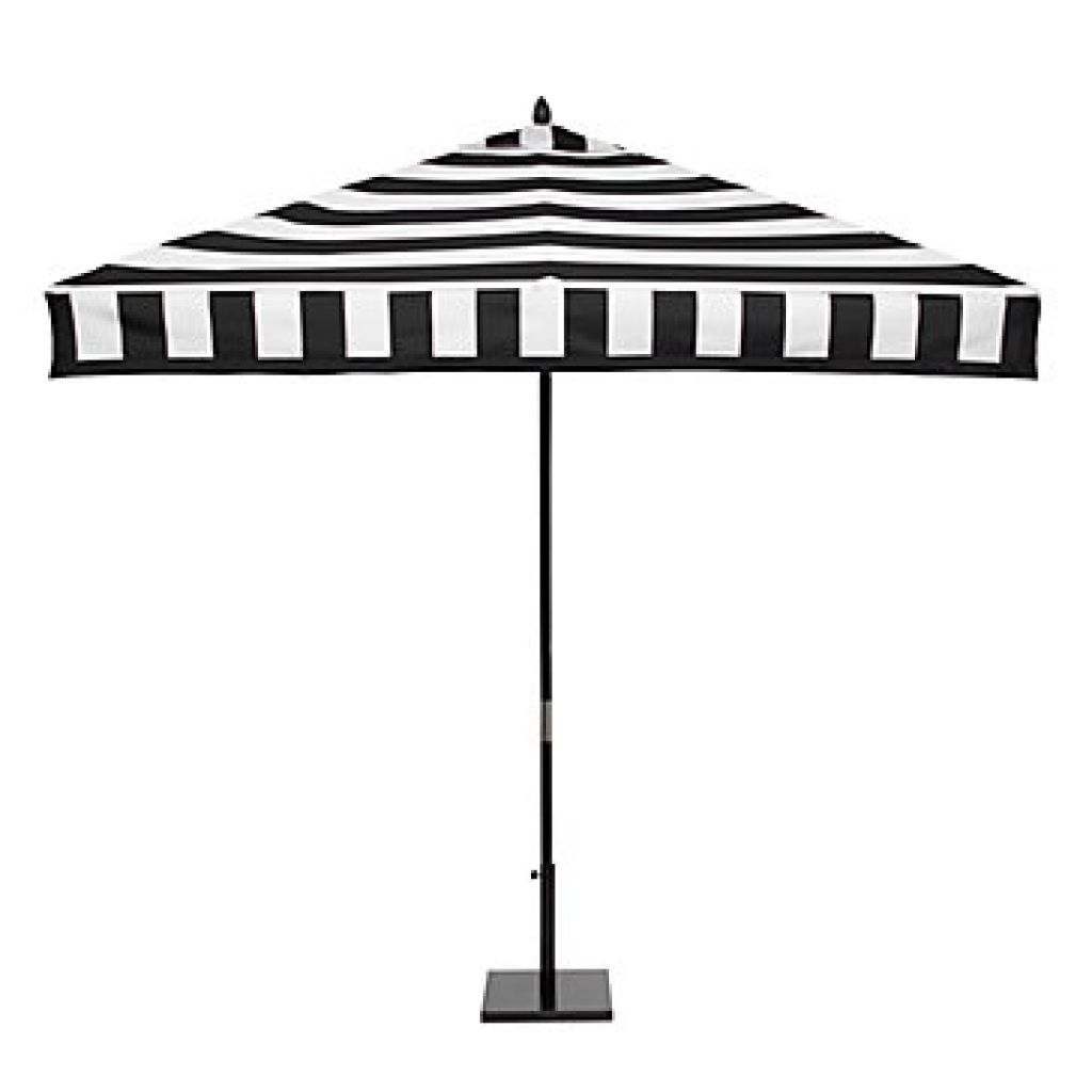 Home Depot Outdoor Patio   Black And White Stripe Patio Umbrella .