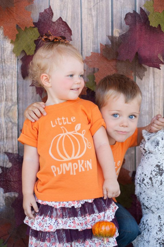 Halloween Toddler or Kids Shirt, Little Pumpkin - Ink Free print, Sizes 12m to 8, High Quality Tshirt, Free Shipping