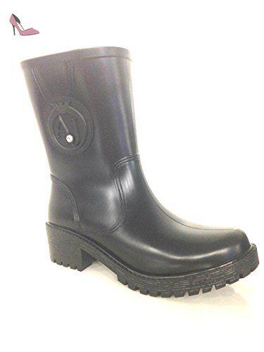 nero Armani Motardes Bottes Nero Femme Chaussures Noir Emporio 8HXxq8