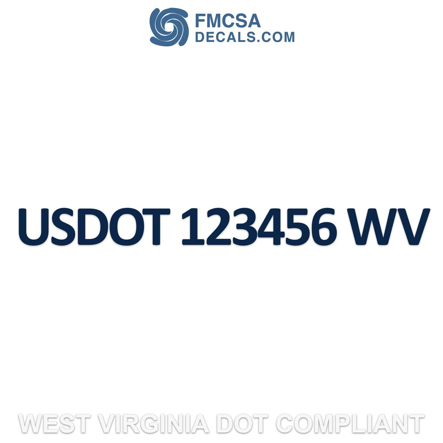 USDOT Number Sticker Decal Wyoming Set of 2