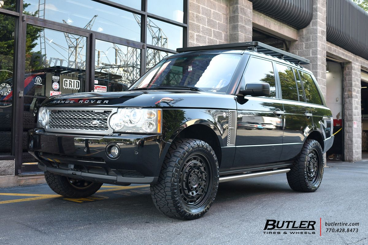 Range Rover With 20in Black Rhino Arsenal Wheels Exclusively From Butler Tires And Wheels In Atlanta Ga Range Rover Supercharged Land Rover Land Rover Models