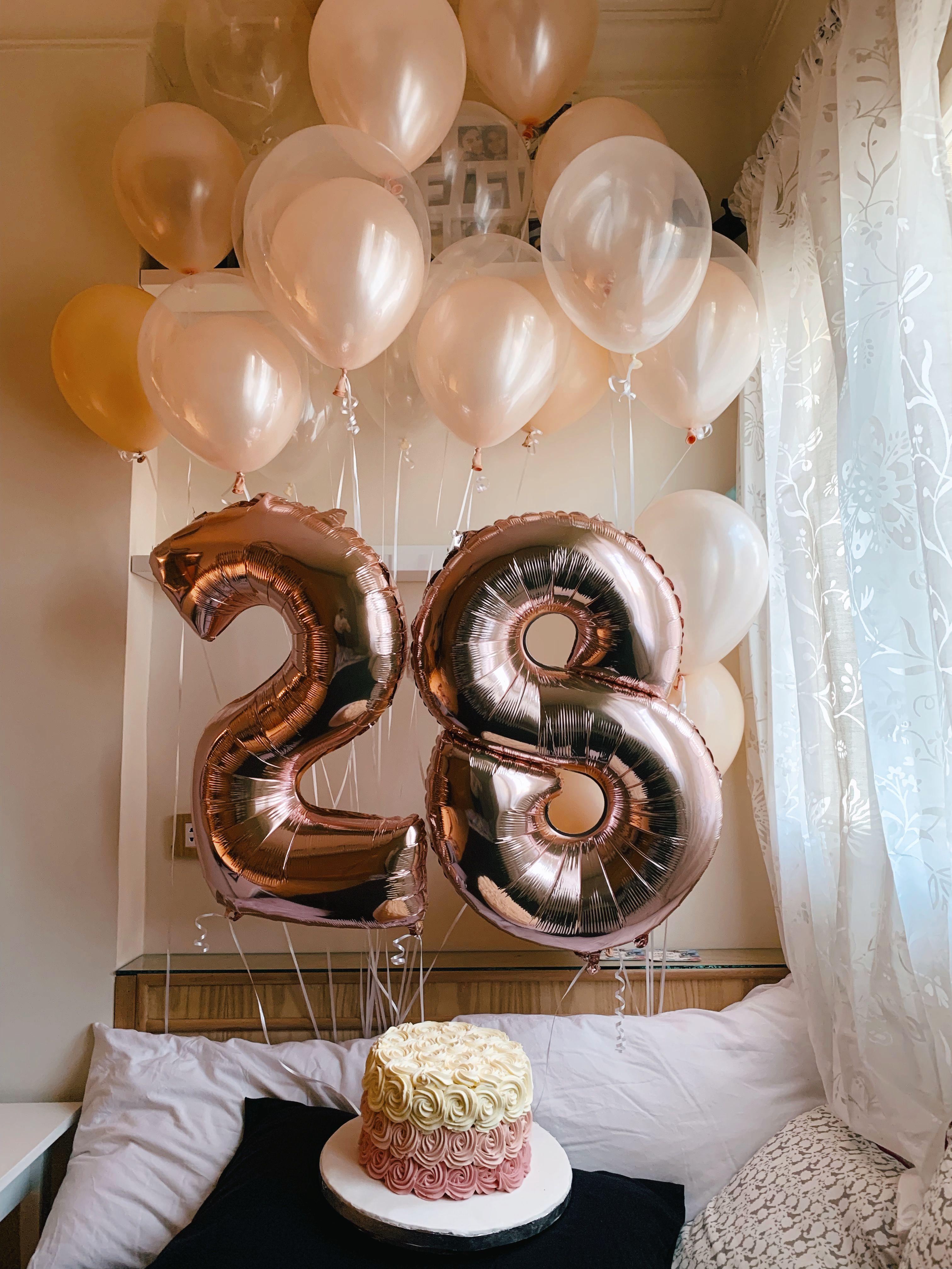 Magnificent 28 Balloons Birthday Cake Birthday Balloons Birthdaycake In Birthday Cards Printable Inklcafe Filternl