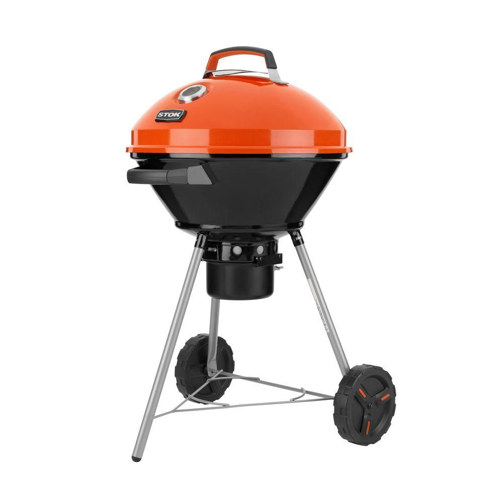 STOK Drum 358 sq. in. Charcoal Grill with Insert System, Black ...