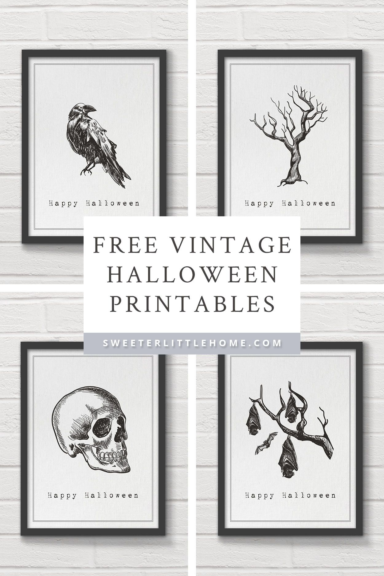 picture relating to Vintage Halloween Printable identify Totally free printable typical Halloween wall artwork Printables