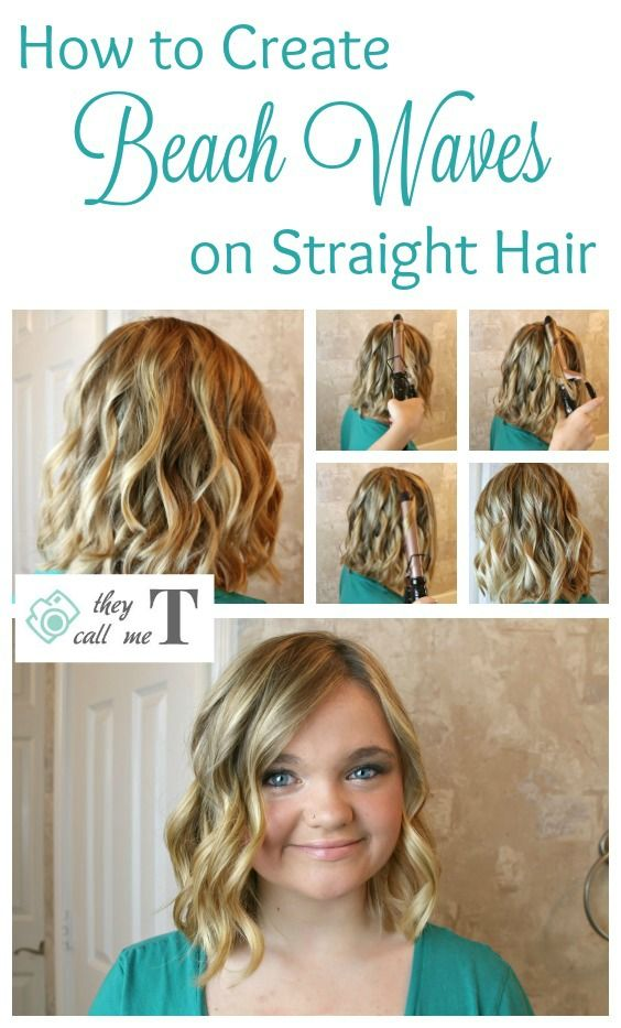 How To Create The Perfect Beachy Waves They Call Me T Beach Waves For Short Hair Straight Hairstyles Short Hair Waves