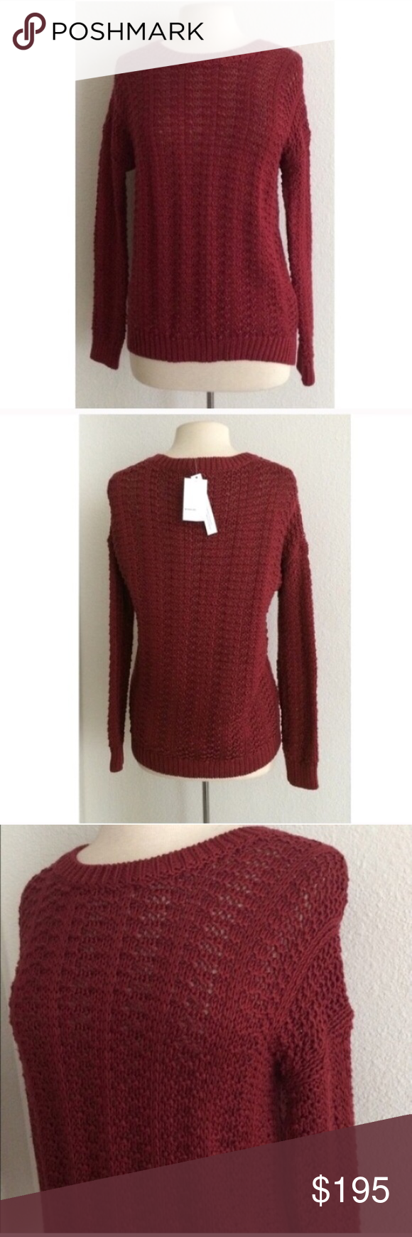"Vince chunky knit sweater Vince chunky knit sweater. Size XS . Measures 26"" long with a 38"" bust. 100% cotton. This is an open knit sweater so it is see through. Semi oversized and extremely comfy!                                         🚫NO TRADES🚫 💲Reasonable offers accepted💲 💰Ask about bundle discounts💰 Vince Sweaters Crew & Scoop Necks"