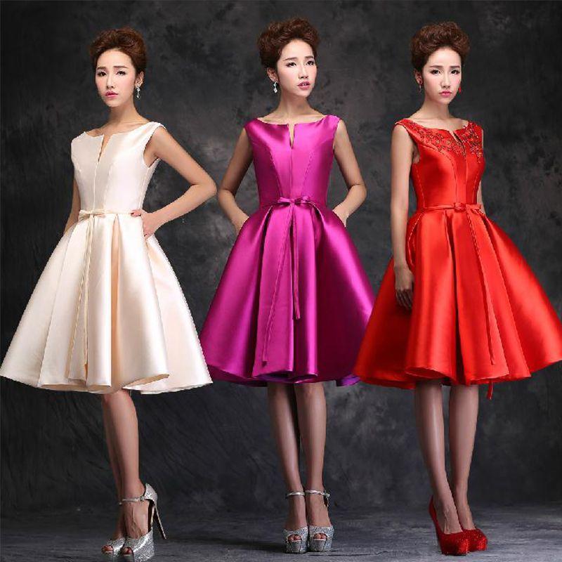 Cheap No nupcial 2016 de la nueva llegada elegante mujeres vestidos ...