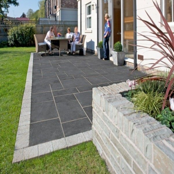 The Limestone Kaddappa Black Calibrated Patio Paving Slab Pack Will Provide  A Luxurious Mid Grey Matt Patio Or Pathway When Dry And A Deep Grey/green  Sheen ...