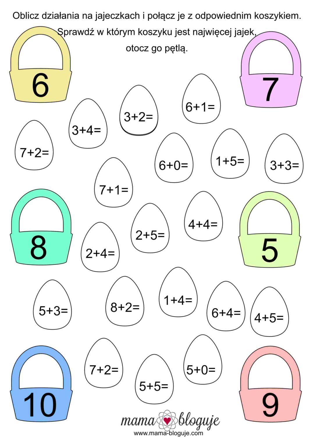 Wielkanocne Zadania Karty Pracy Liczenie Do 15 In 2020 Math For Kids School Frame Phonics