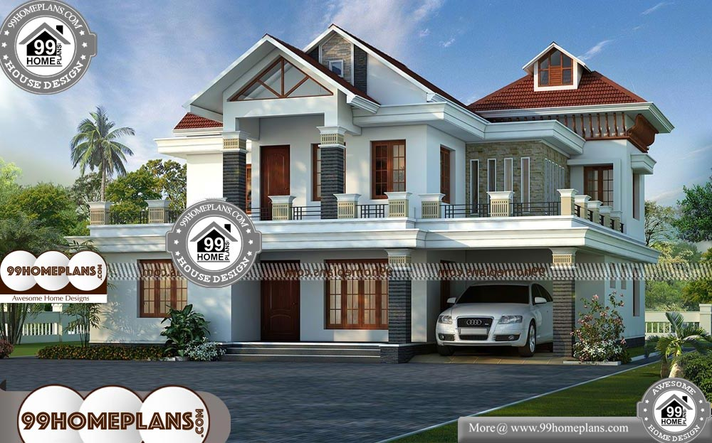 Indian Style Low Budget House Plans with 3D Elevations