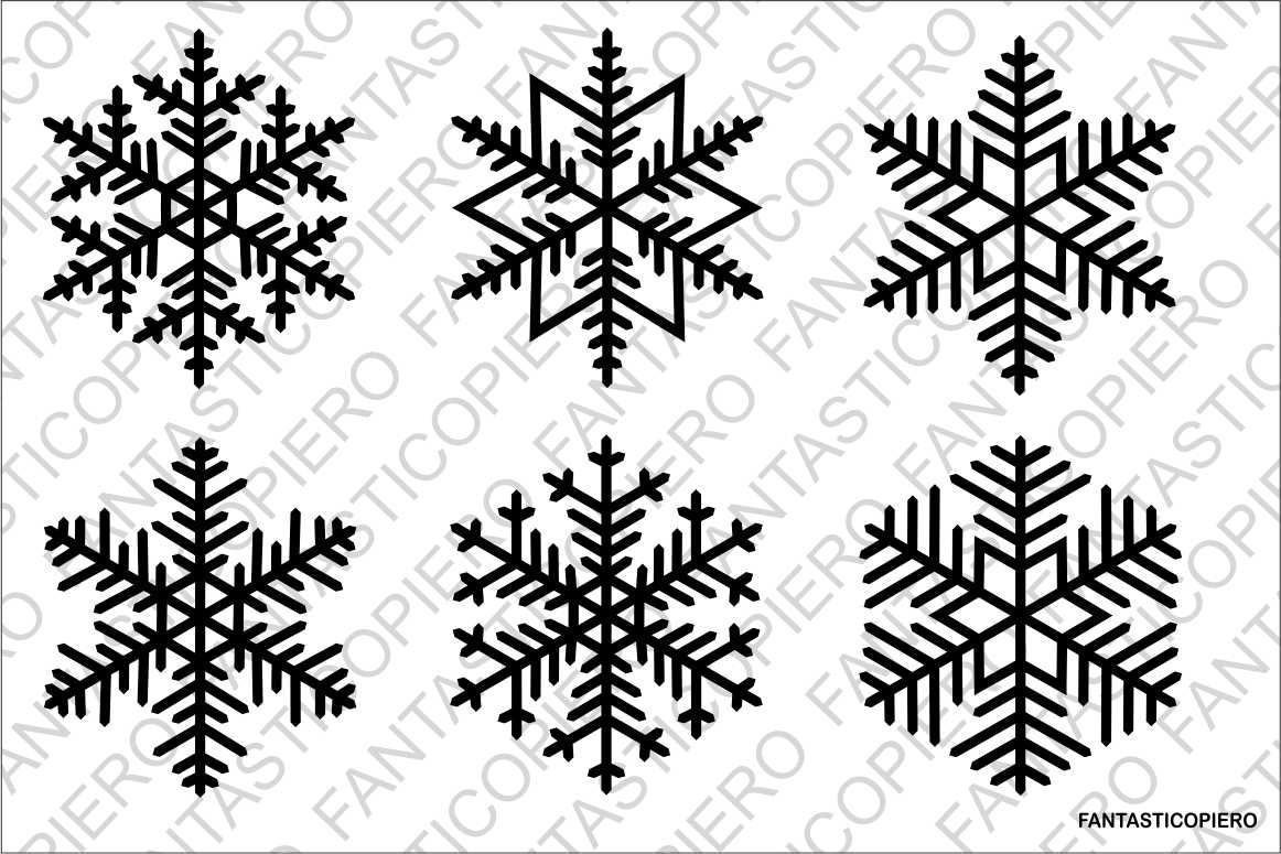Snowflakes 3 SVG files By FantasticoPiero TheHungryJPEG