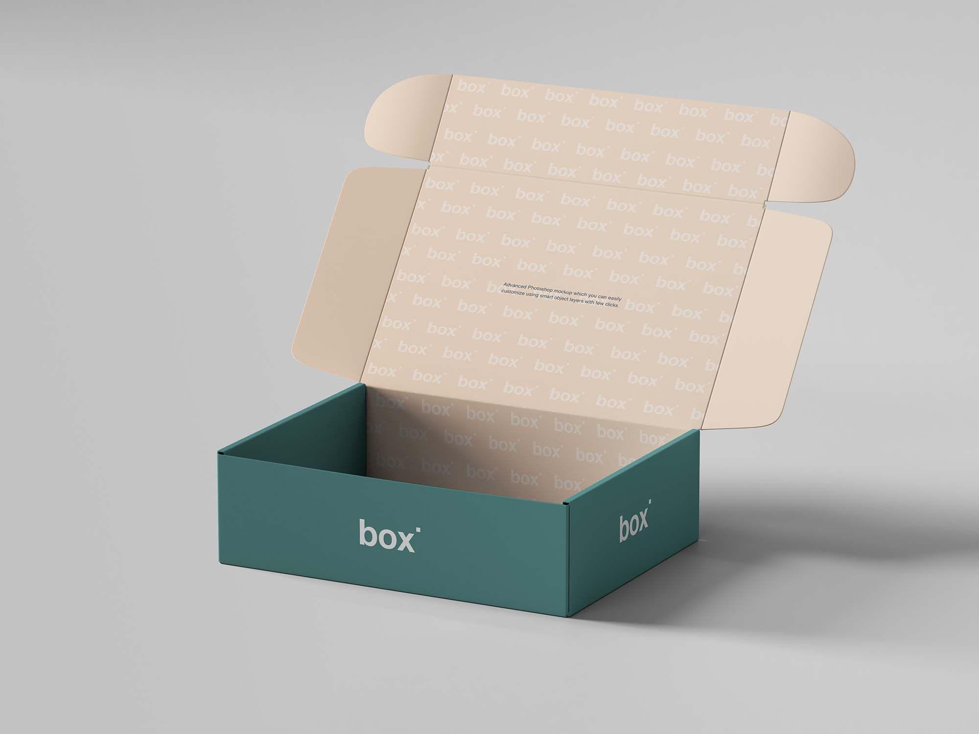 Download Free Pinch Lock Box Mockup Psd Box Mockup Free Mockup Packaging Mockup