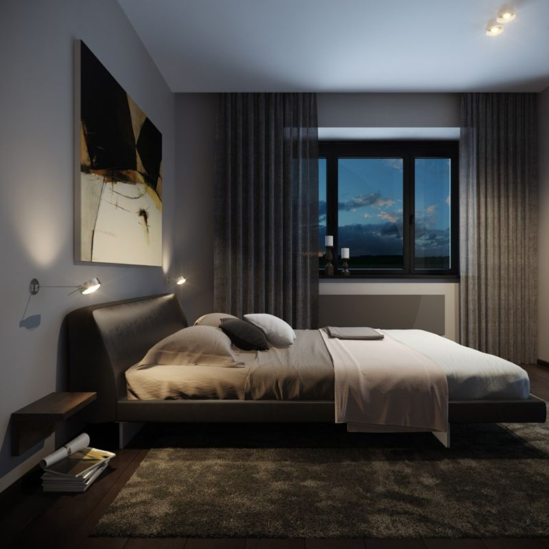 Masculine Master Bedroom: 22 Bachelor's Pad Bedrooms For Young Energetic Men