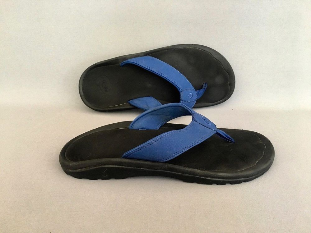 36a3b92d412c Olukai Ohana Men s size 9 EU 42 Hawaii Beach Thong Flip Flops Sandal Shoes  Blue  OluKai  FlipFlops