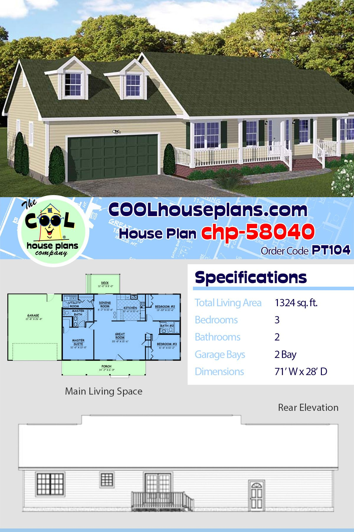 Ranch Home Design With Large Great Room At Cool House Plans Ranch House Designs Ranch Home Floor Plans Best House Plans
