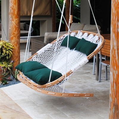Double Outdoor Swing With Footrest Diy Hammock Chair Swinging