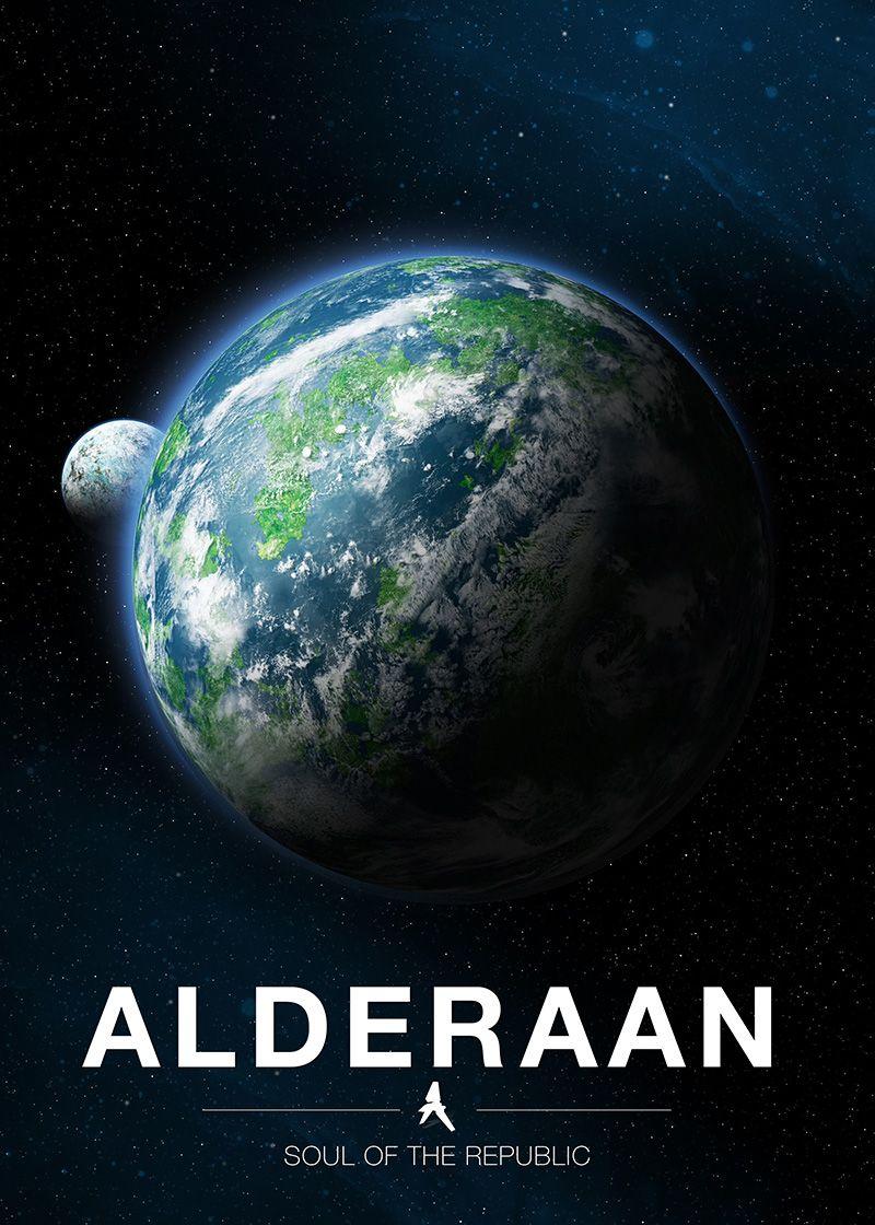 Alderaan By Ondrej Sponiar Metal Posters Star Wars Planets