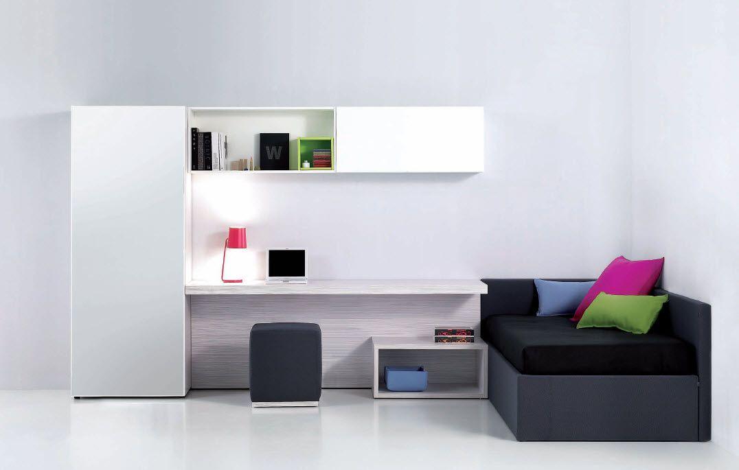 Captivating White Teen Room; Minimal Teenu0027s Room Design