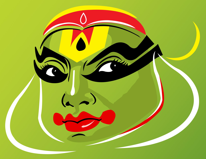 Kathakali rajasthani painting indian paintings kathakali face psychedelic drawings modern indian art